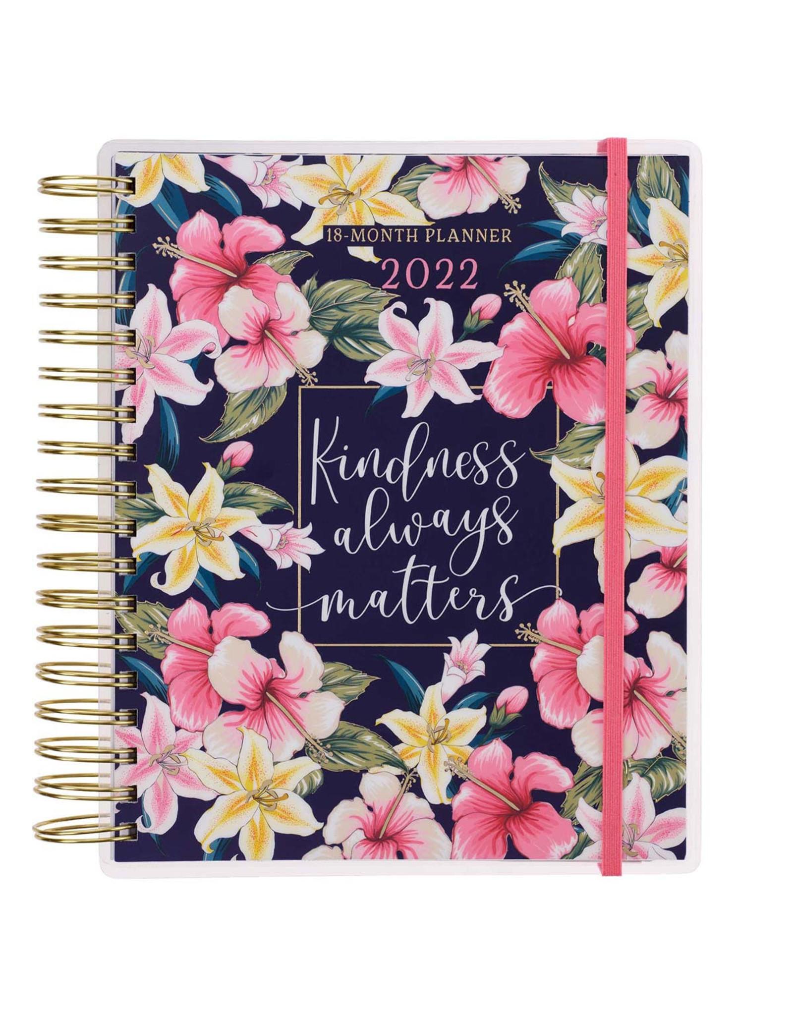 2022 Kindness Always Matters Wirebound 18 Month Planner For Women
