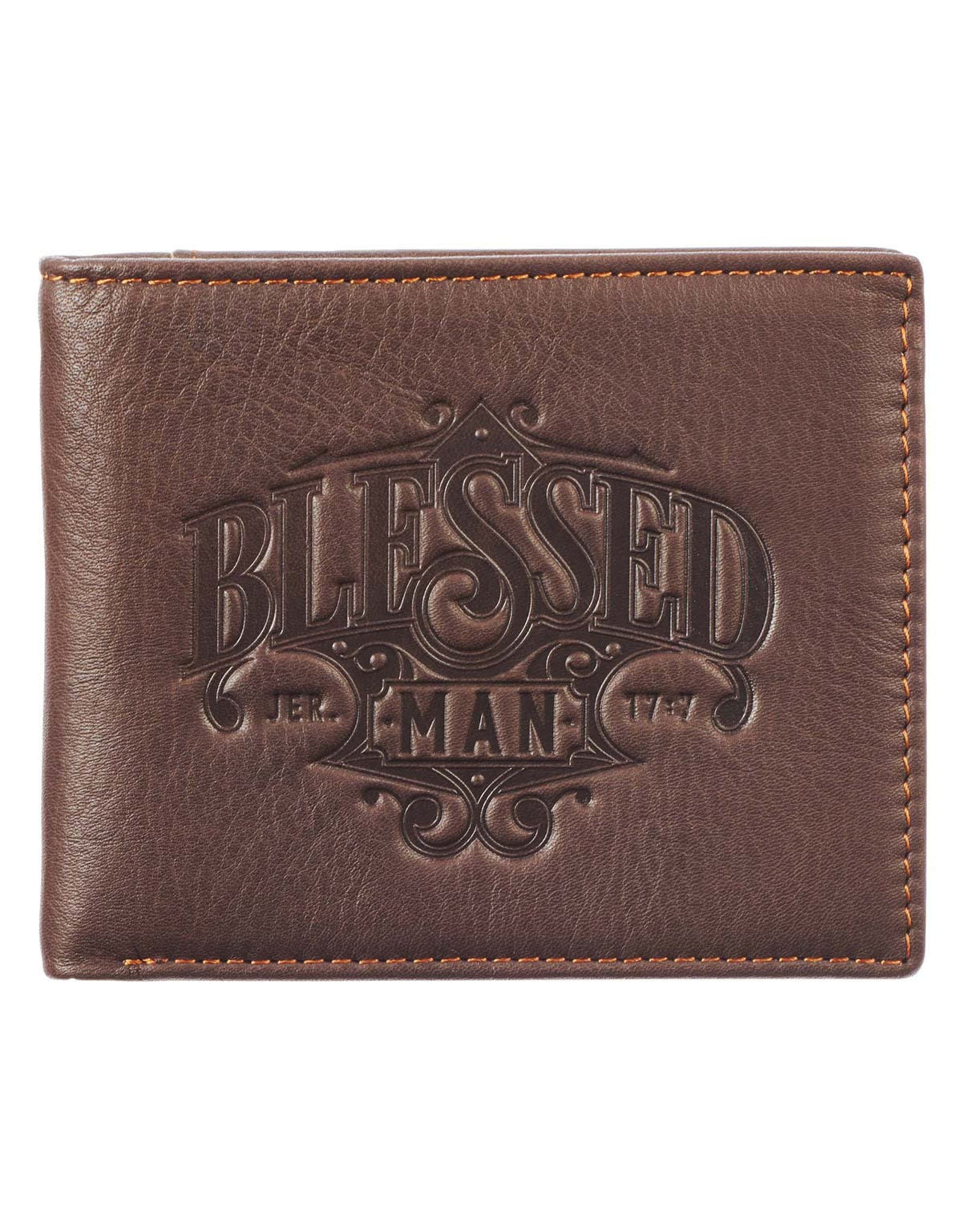 Blessed Man Genuine Leather Wallet - Jeremiah 17:7