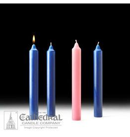 Advent Candles 1.5x12 (3 Sarum Blue, 1 Rose)