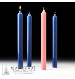 Advent Candles 1.5x16 (3 Sarum Blue, 1 Rose)