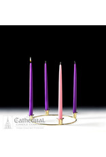 """Advent Wreath (Ring Candle Holder) - 10"""" Gold"""