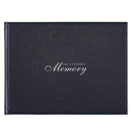 In Loving Memory Navy Medium Guest Book