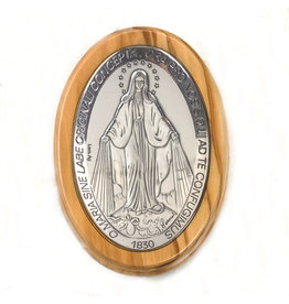 Rosary Box - Miraculous Medal - Olive Wood