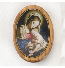 Rosary Box - Mother and Child Sassoferato - Olive Wood