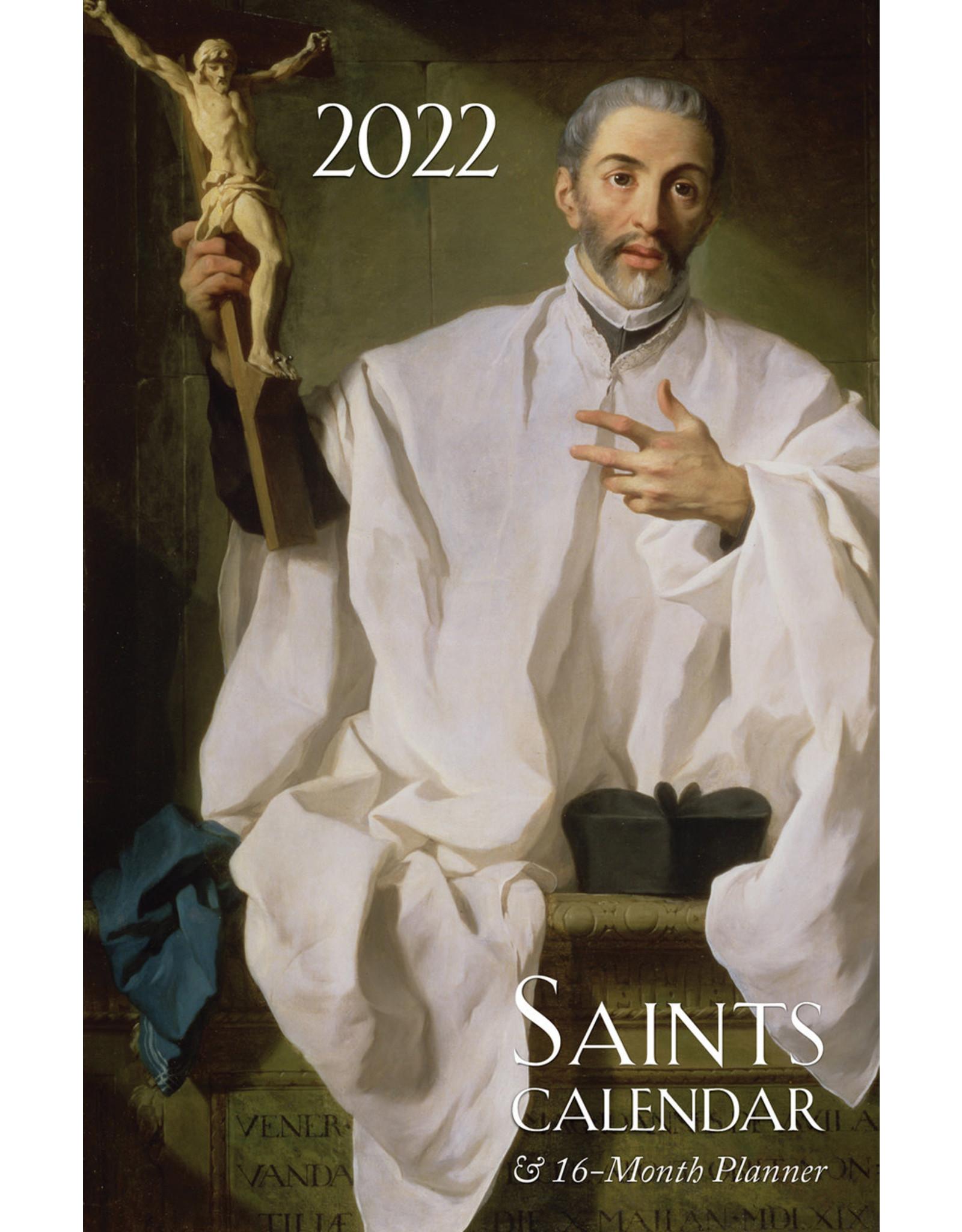 2022 Saints Calendar & 16 Month Daily Planner, Spiral Bound