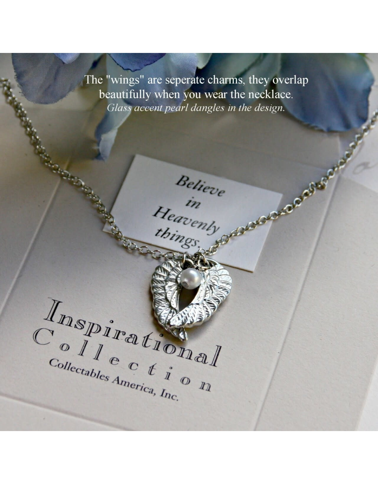 Angel Wings Necklace, Believe in Heavenly Things