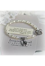 Angel Wings Message Bracelet