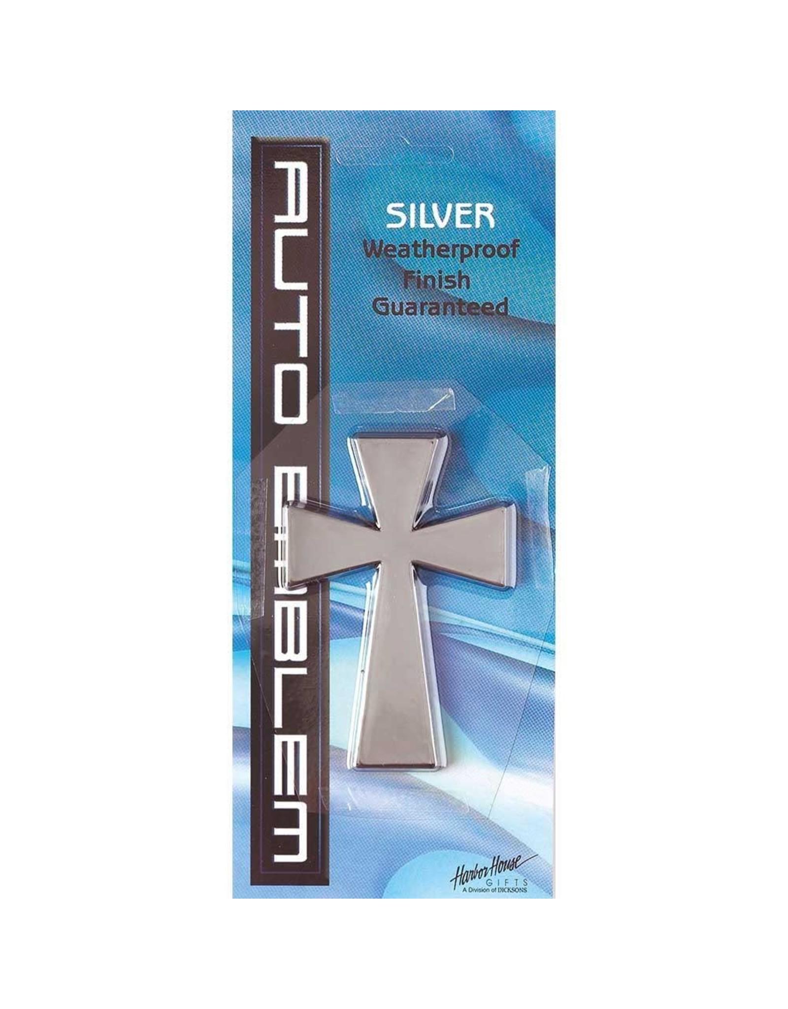 Auto Emblem - Large Silver Cross