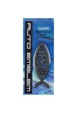 Auto Emblem - Large Silver Fish/Jesus
