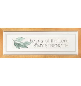 The Joy of the Lord is My Strength Framed Picture 20.75x7.75