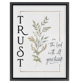 Trust In The Lord Canvas Framed Picture 12x15.75