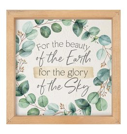 For the Beauty of the Earth Framed Picture 11x11