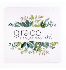 """Grace Overcomes All Canvas 19.75""""x19.75"""""""