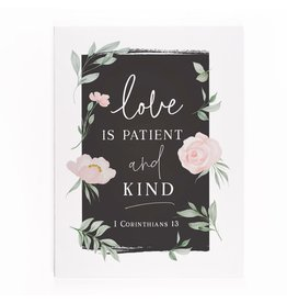 Love is Patient and Kind Canvas 12x15.75