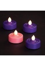 Advent LED Tea Lights - 3 Purple, 1 Pink