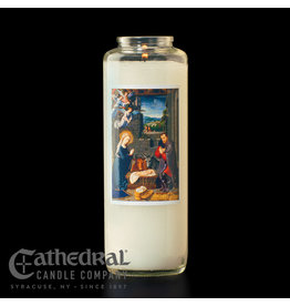 6-Day Sacred Nativity Glass Candle (Each)