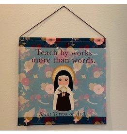 """St. Teresa of Avila Tapestry Wall Hanging 18"""""""
