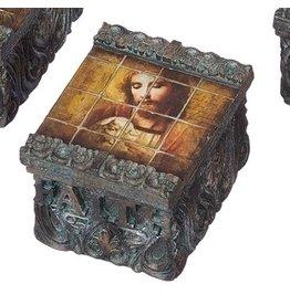 Tile Art Box - Jesus & Lamb