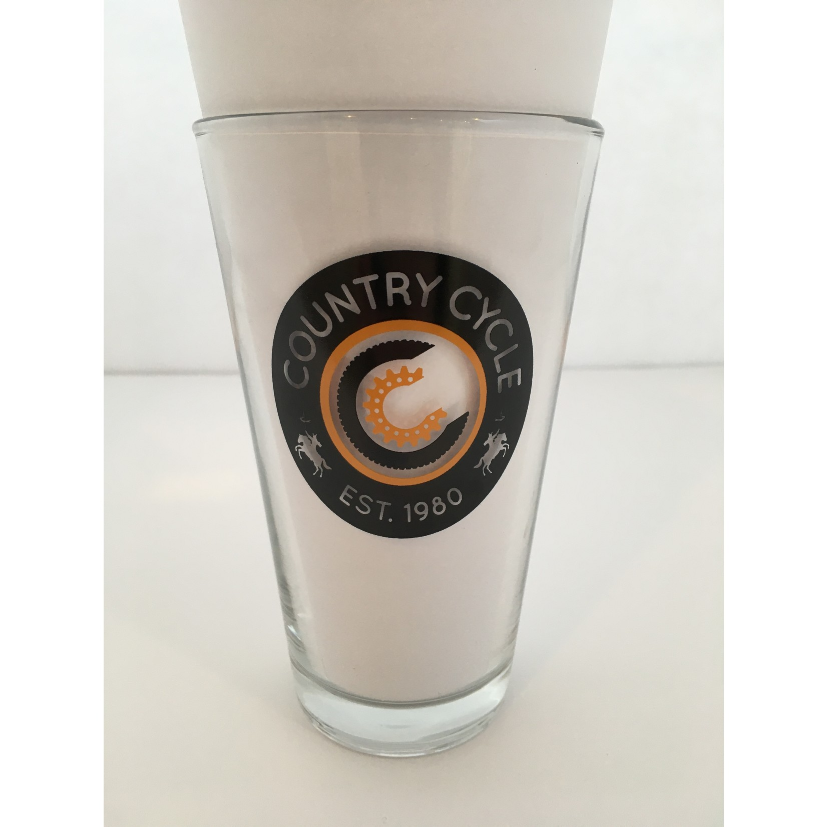 16 Oz. Clear Pint Glass  Back 40 2018
