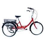 KHS TRIKE 7 SPEED ALLOY RED
