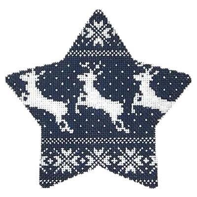 Canvas NORDIC REINDEER XMAS STAR KB1190