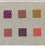 Canvas 10 SQUARE PANELS FOR DECORATIVE STITCH LESSONS  WITH STITCH GUIDE