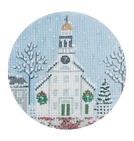Canvas WHITE CHURCH AND STEEPLE  TSG25E