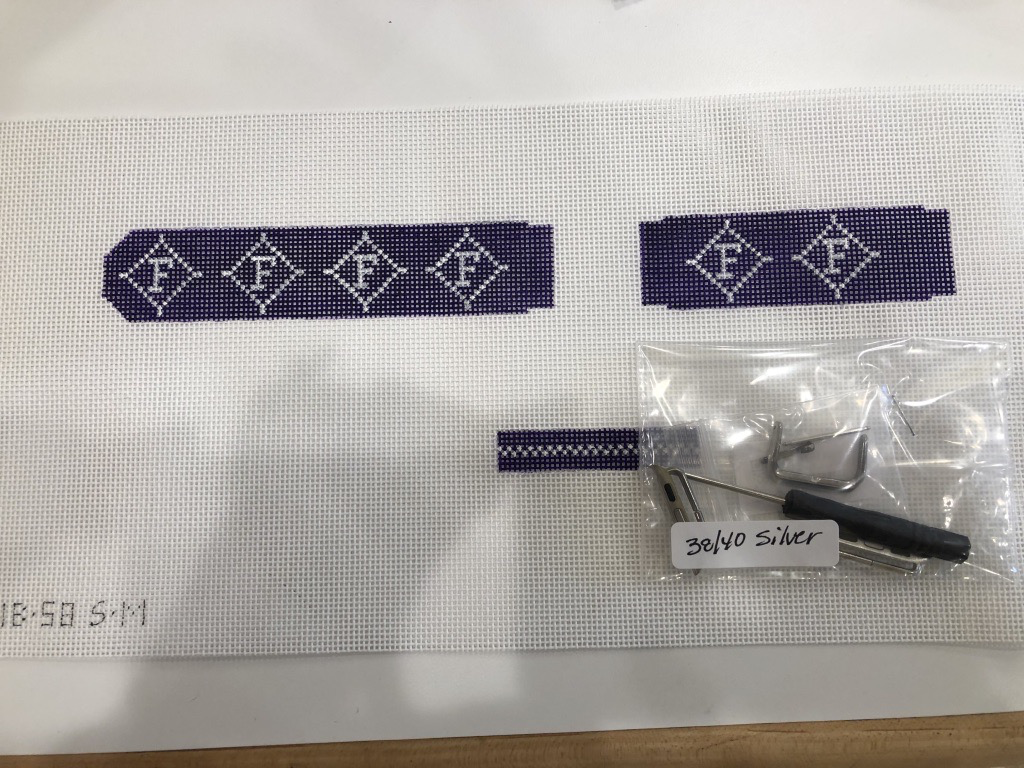 Canvas APPLE WATCH BAND - COLLEGIATE SERIES - FURMAN BAND SIZE 38/40 INCLUDES HARDWARE