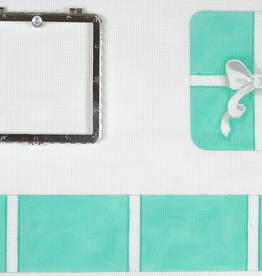 Canvas LIMOGE LARGE SQUARE TIFFANY BOX - 3-D WITH HINGE    BXLSQ02