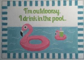 Canvas I'M OUTDOORSEY…I DRINK IN THE POOL RD186