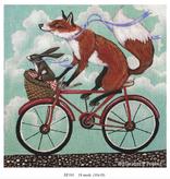Canvas FOX AND RABBIT BIKE RIDE  EF101