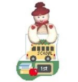 Canvas SCHOOL BUS WITH BOY STUFFER  CM320