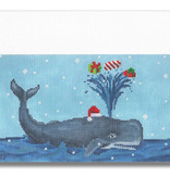 Canvas CUFF - WHALE WITH PRESENTS  SCCC02