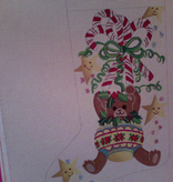 Canvas TEDDY BEAR ORNAMENT  4048