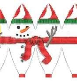 Canvas FULL SNOWMAN HOT AIR BALLOON  5282