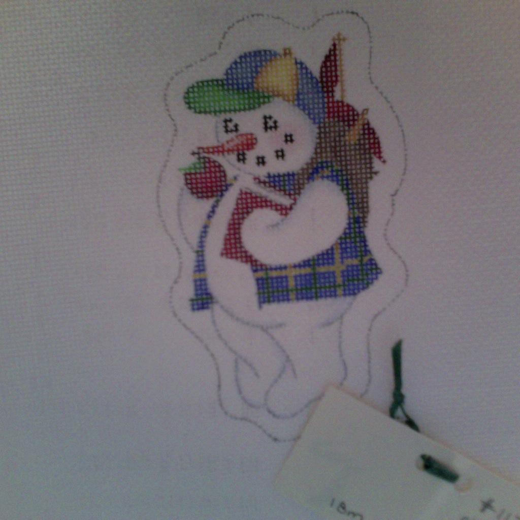 Canvas SEPTEMBER SNOWMAN  CT627