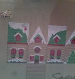 Canvas LOG CABIN GINGERBREAD HOUSE  XO127
