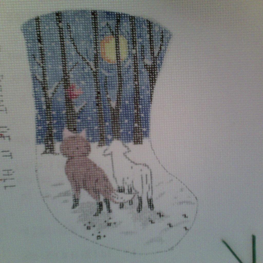 Canvas FOX AND LAMB MINI SOCK   MM132