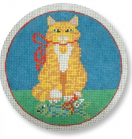 Canvas CAT WITH FISH  CEXO 06