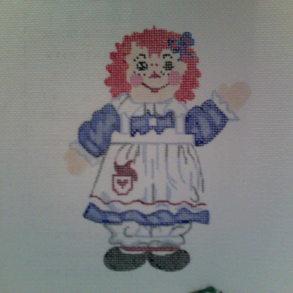 Canvas RAGGEDY ANN  XO13