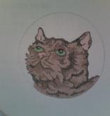 Canvas CAT FACE  ND0105 - SALE REG 28.00