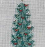 Canvas XS TREE WITH CARDINALS  340E