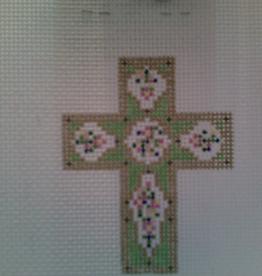 Canvas MIST GREEN CROSS N1701