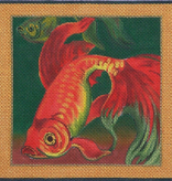 Canvas KOI ON GREEN  B56B