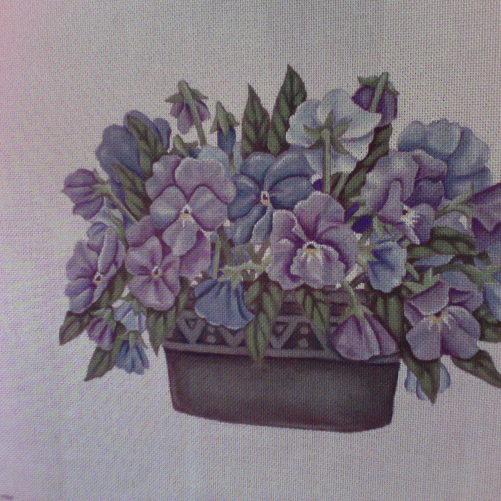Canvas PANSY POT  383
