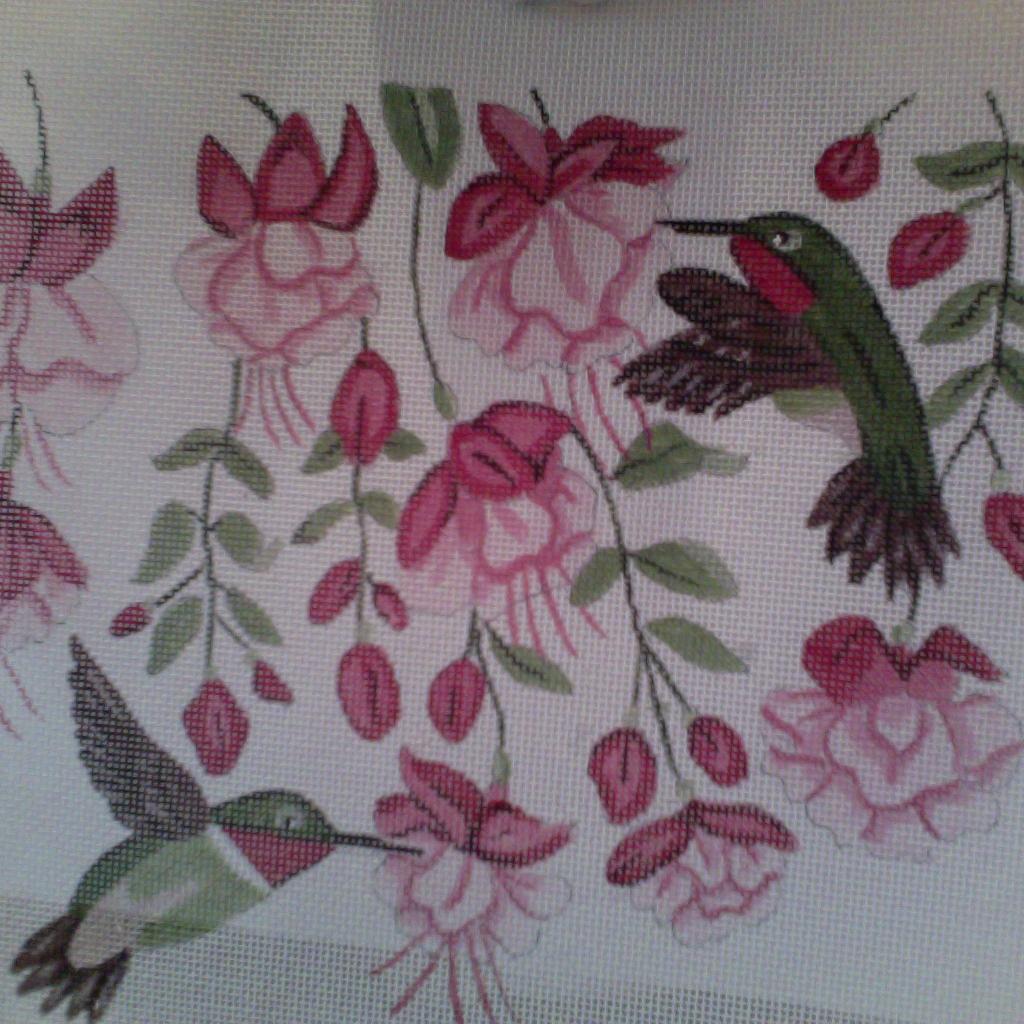 Canvas FUSCHIA HUMMINGBIRD L48