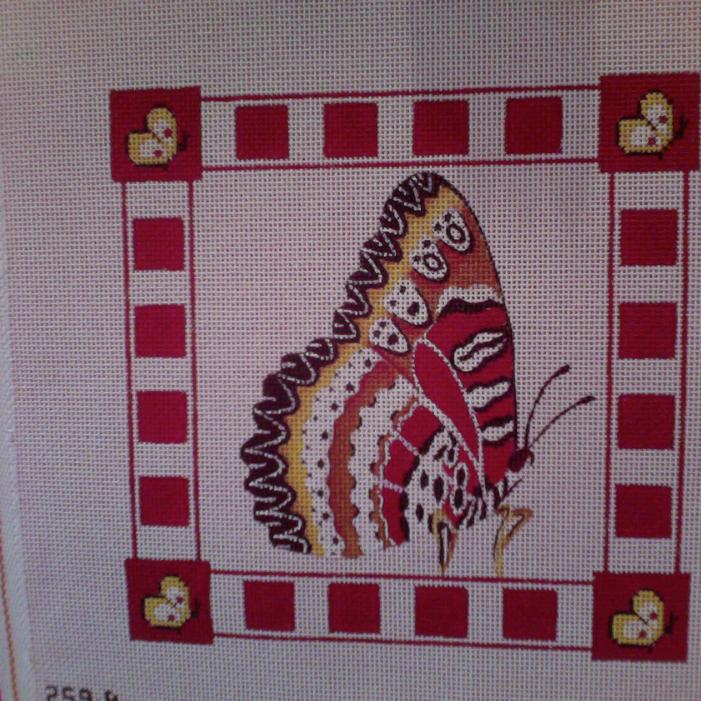 Canvas LACE WING BUTTERFLY  259B
