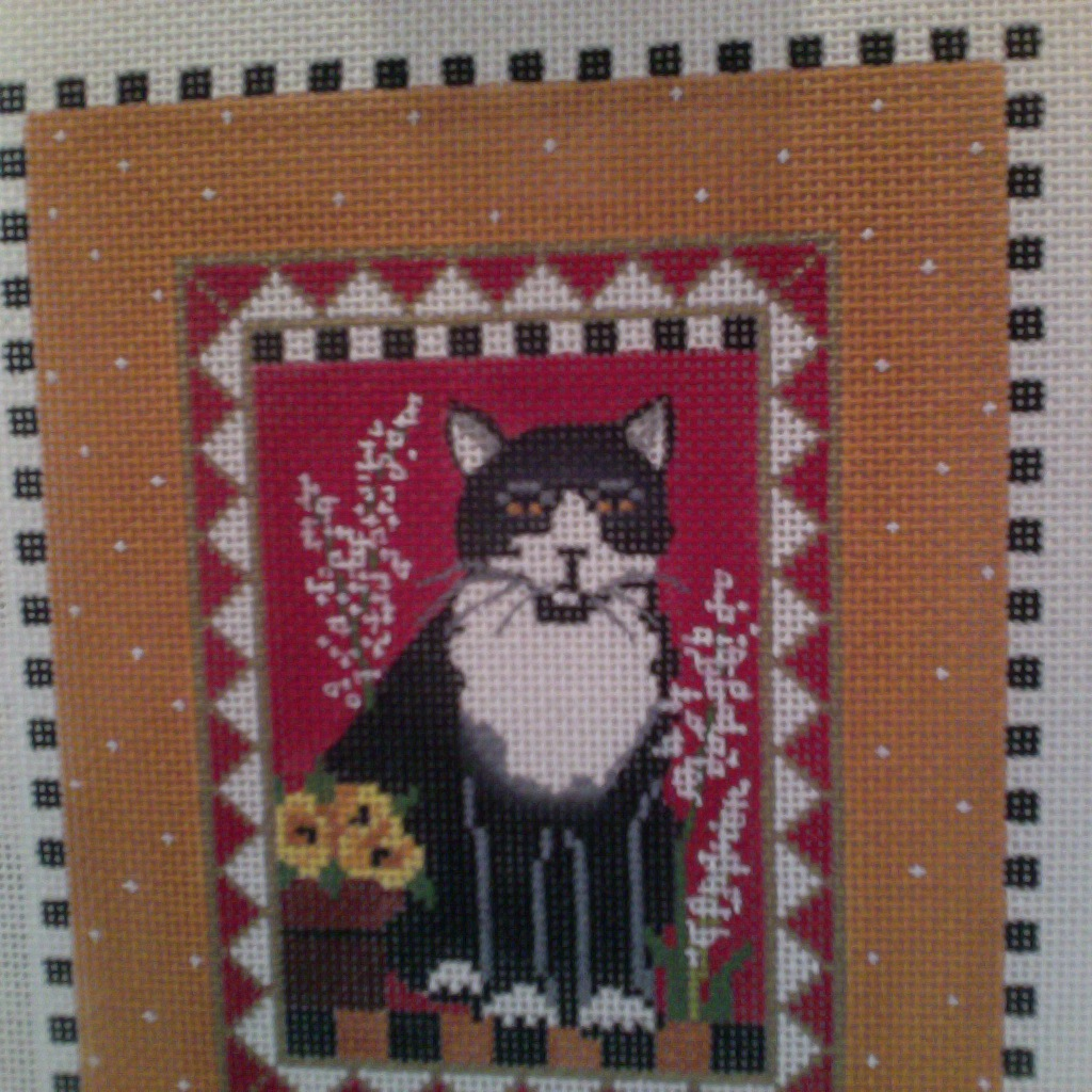 Canvas CAT WITH FLOWERS 3380