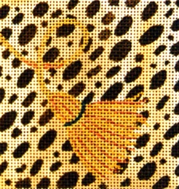 Canvas LEOPARD SKIN COASTER  A185