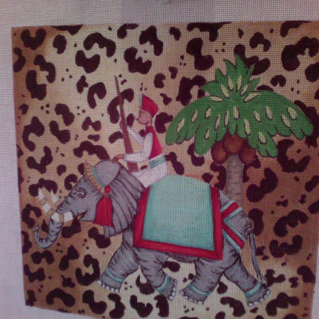 Canvas ELEPHANT IN LEOPARD SPOTS  P076